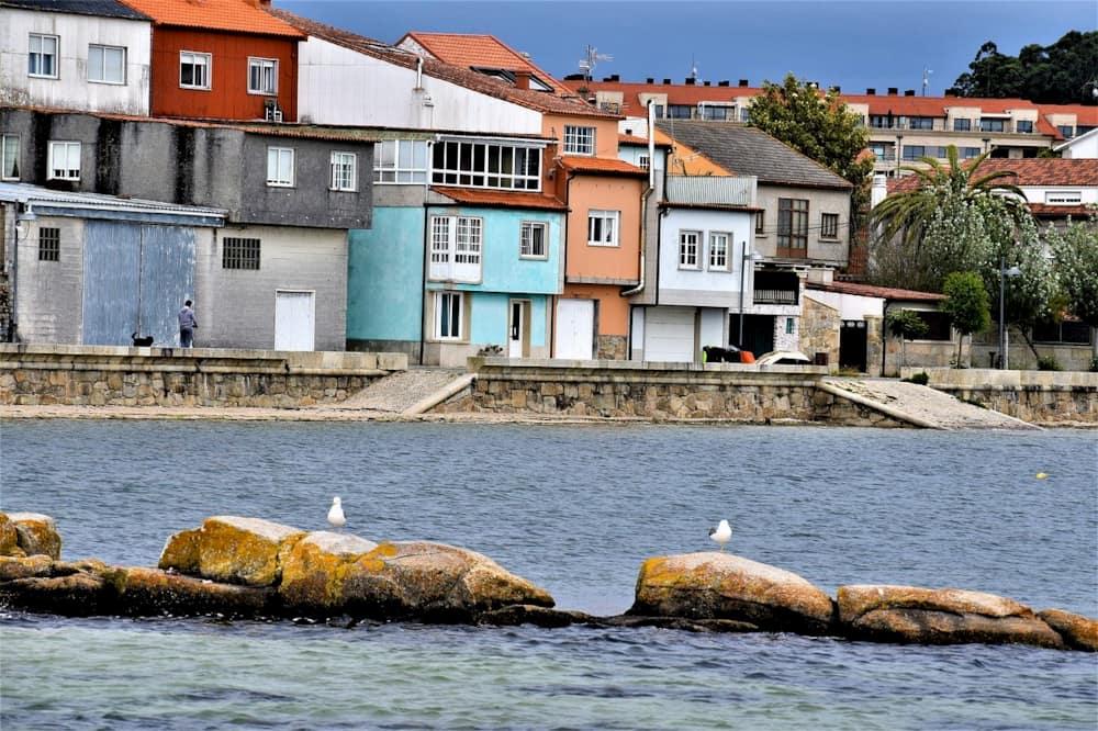 Cambados puerto y casas